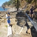 Still plenty of driftwood to be found.- Coasteering on Sangster Island