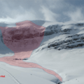 It is common for serac fall to occur off the Vulture Glacier. It is possible to stay well clear of this as the chunks rarely get as far as the track up to the hut. All the same, standard group risk strategies for overhead hazards should be observed.- Alpine Club of Canada Bow Hut