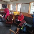 Gearing up for a climb on the glacier.- Alpine Club of Canada Bow Hut