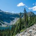Views of Ann Lake along the hike into camp.- Black Peak: Northeast Ridge