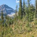 The northeast ridge route follows the right skyline.- Black Peak: Northeast Ridge