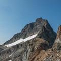 Looking up the northeast ridge from the col.- Black Peak: Northeast Ridge