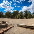 Horseshoe pits in the center of Campground B.- Beaver Dam State Park Campgrounds A + B