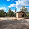 Campground A has vault toilets and outhouses serving the campground.- Beaver Dam State Park Campgrounds A + B