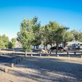 Silver Springs Beach #7 Campground is one of only two year-round serviced campgrounds in Lake Lahontan State Recreation Area.- Silver Springs Beach #7 Campground