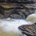 One of the many cascades of Glen Creek.- Gorge Trail