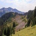The Lilly Basin Trail nears Johnson Peak.- Goat Rocks Thru-hike