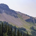 The trail travels through the Johnson Peak cirque.- Goat Rocks Thru-hike