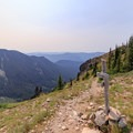 The Angry Mountain/Lilly Basin Trail junction.- Goat Rocks Thru-hike