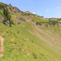 Another expansive, cascading meadow in the cirque south of Johnson Peak.- Goat Rocks Thru-hike