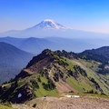 View of Mount Adams to the south of the spur trail to Hawkeye Point.- Goat Rocks Thru-hike