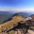 View to the south toward Mount Adams from Hawkeye Point (7,317 ft).- Goat Rocks Thru-hike