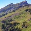 Spot the backcountry campsite with Johnson Peak above.- Goat Rocks Thru-hike