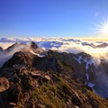 The sun has risen above an inversion layer on Hawkeye Point.- Goat Rocks Thru-hike