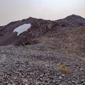 The PCT meets the climber's trail (and PCT alternate) to the summit of Old Snowy Mountain.- Goat Rocks Thru-hike