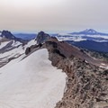 View to the south from the summit of Old Snowy Mountain toward Ives Peak and Mount Adams on the right.- Goat Rocks Thru-hike
