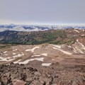 View to the west toward Mount St. Helens from the summit of Old Snowy Mountain.- Goat Rocks Thru-hike