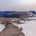 View to the east from the summit it of Old Snowy Mountain with Gilbert Peak (8,184 ft) on the right - the highest peak in the Goat Rocks wilderness.- Goat Rocks Thru-hike