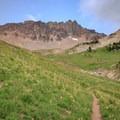 The PCT travels through meadows in Cispus Basin.- Goat Rocks Thru-hike