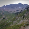 The PCT ascends to the south out of Cispus Basin.- Goat Rocks Thru-hike