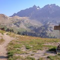 The PCT forms a border between the USFS Goat Rocks Wilderness and the Yakima Reservation.- Goat Rocks Thru-hike