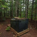 Toilet about 500 feet down the trail from the lookout.- Pechuck Lookout