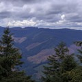 View to the south from outside the lookout.- Pechuck Lookout