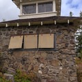 Shutters over the windows.- Pechuck Lookout