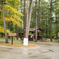 Campground host and decorations.- Keith J. Charters Traverse City State Park Campground