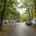 One of six lanes in the campground.- Keith J. Charters Traverse City State Park Campground