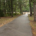 Access point to the TART trail bike path located in the southeast corner of the campground.- Keith J. Charters Traverse City State Park Campground