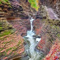 Some of the many cascades in the gorge.- Watkins Glen State Park Campground