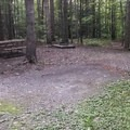 One of the many tent sites. - Watkins Glen State Park Campground