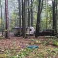 Mid-sized RV site for RVs 20 feet or less.- Watkins Glen State Park Campground