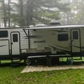 Oversized RV site for RVs longer than 30 feet.- Watkins Glen State Park Campground