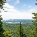 View to Acadia National Park from Black Mountain Cliffs.- Schoodic Beach via Black Mountain Cliffs Trail