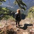 Descending from Needle Peak.- Needle Peak