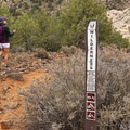 Entering the Red Mountain Wilderness.- The Vortex via Lower Sand Cove Trail