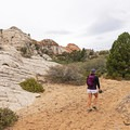 Navajo sandstone covers much of the area.- The Vortex via Lower Sand Cove Trail