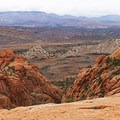 Great views to the west toward Gunlock.- The Vortex via Lower Sand Cove Trail