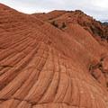 Rippled stone.- The Vortex via Lower Sand Cove Trail