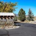 Entrance gate to Washoe Lake State Park.- Washoe Lake State Park
