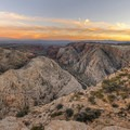 Beautiful sunset from Snow Canyon Overlook.- Snow Canyon Overlook via Red Mountain Trail