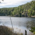 Initial view of Mud Pond after exiting the hallway of Evergreens and Balsam.- Tunk Mountain