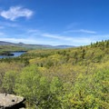 Panorama from Sunset Point.- North Point Mountain via Escarpment + Marys Glen Trails