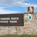 Starved Rock State Park entrance.- Starved Rock State Park