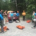 A bunch of guides hanging out in the car park. - The Rundlehorn