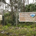 The entrance to Crystal River Preserve State Park.- Crystal River Preserve State Park