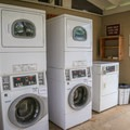 There are laundry facilities and a book exchange at the campground.- Lake Griffin State Park Campground