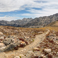 Beautiful views of Arapaho Pass and mountain range from just below Lake Dorothy.- Lake Dorothy
